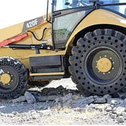 Solid Cushion Backhoe Tires